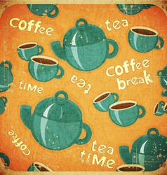 coffee break retro vector image