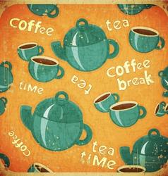 Coffee break retro vector