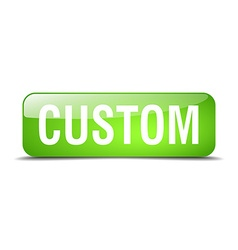 custom green square 3d realistic isolated web vector image