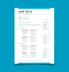cv personal profile resume curriculum vitae vector image