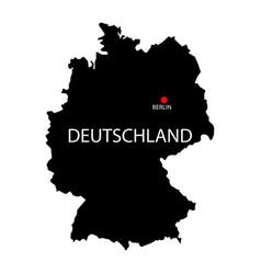Deutschland berlin sign germany map in german vector