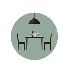 Dining room icon vector