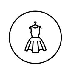 Dress on a hanger icon editable thin line vector