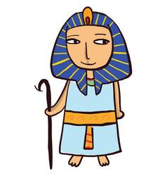 egyptian pharaon on white background vector image