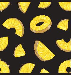 elegant seamless pattern with fresh pineapple vector image