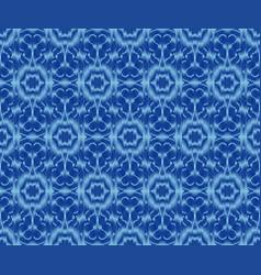 Ethnic patterned fabric indigo dyed ikat seamless vector