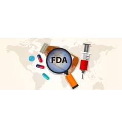 FDA food and drug administration approval health vector