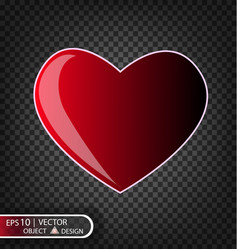 festive of falling red heart vector image