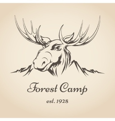 Forest camp logo vector