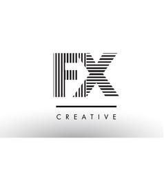 Fx f x black and white lines letter logo design vector