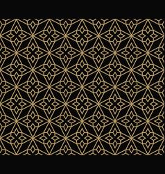 Geometric line ornament seamless pattern modern vector