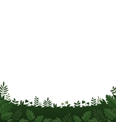 Green leaves frame on white background vector