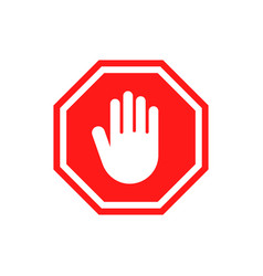 hand forbidden stop icon warning symbol vector image