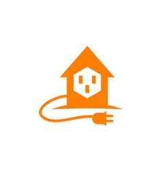 home electricity logo design template vector image