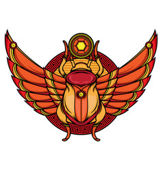 khepri flash tattoo designs vector image