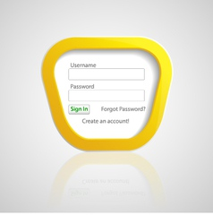 Login Form vector