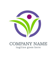 Logo design beauty organic company logo vector
