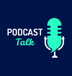 logo or icon podcast talk with light color graphic vector image
