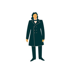 male opera singer performing on stage man giving vector image