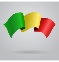 Malian waving Flag vector image