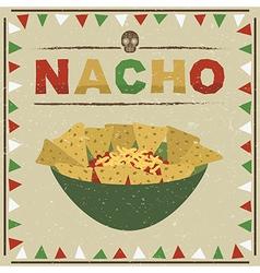 mexican nachos vector image vector image