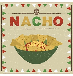 Mexican nachos vector