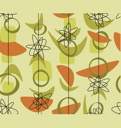 Middle age bio shapes seamless pattern vector