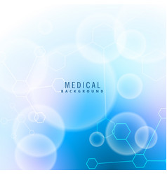 Moclecules and particles medical background vector