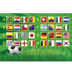 National Team Flags for soccer 2014 vector image vector image