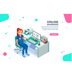 nurse web page template vector image