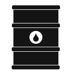 oil barrel icon simple style vector image