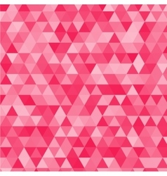 Pink triangles background vector