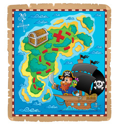 Pirate map theme image 1 vector