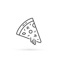 pizza slice like thin line icon vector image