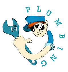 plumber symbol for plumbing repair vector image