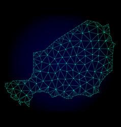 Polygonal 2d mesh map of niger vector