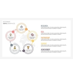 Presentation slide page with 5 steps parts vector