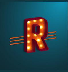 retro style letter r vector image