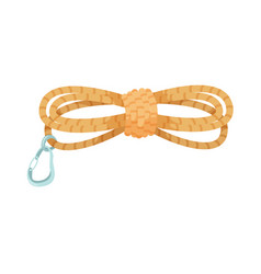 Rope with fastener isolated on white background vector