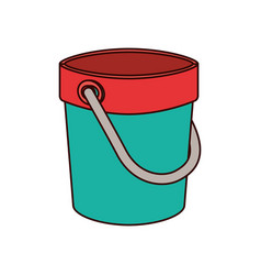 Sand bucket on white background vector