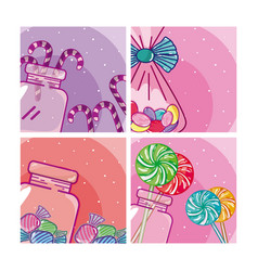 Set of candy frames vector