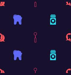 Set painkiller tablet broken tooth dental vector
