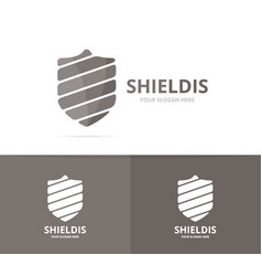 shield logo combination security and vector image
