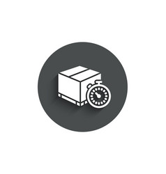 Shipping tracking simple icon delivery timer vector