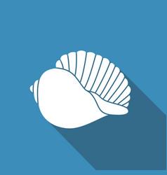 Silhouette of seashells vector