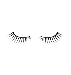 simple black two eyelashes icon on white vector image