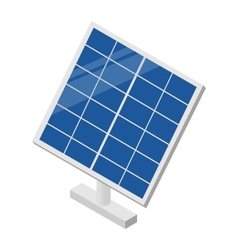 Solar panel isometric 3d icon vector