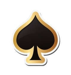 spade card icon vector image