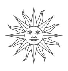 Sun inca sign vector