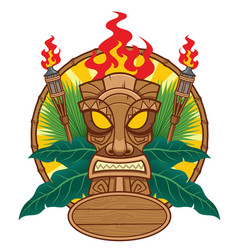 Tiki mask design for tropical concept vector